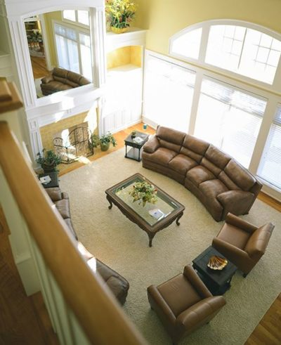 Overlooking the main living room at Silver Ridge Recovery Centers